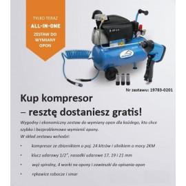 Kompresor FERAX 24l+Zestaw Do Wymiany Opon