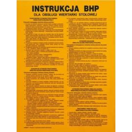 """ANRO Znak Bezpieczeństwa """"Instrukcja BHP przy obsłudze wiertarki stołowej"""""""