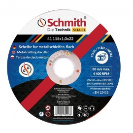 SCHMITH Tarcza Do Cięcia Metalu 125x1,5x22