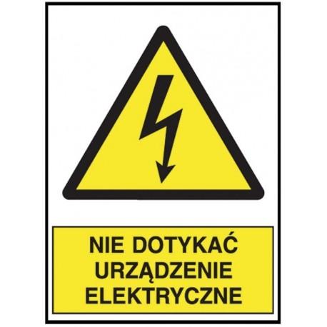 """7e9fdb59b ANRO Znak Bezpieczeństwa """"Nie dotykać urządzenie elektryczne ..."""