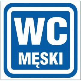 """ANRO Znak Bezpieczeństwa """"WC Męski"""""""
