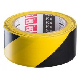 Taśma Ostrzegawcza Żółto Czarna 48mmx33m