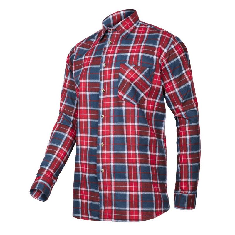 ade7f45d2cb3e8 LAHTI PRO Koszula Flanelowa Czerwono-Niebieska – cena i opinie ...