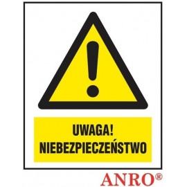 """ANRO Znak Bezpieczeństwa """"Uwaga niebezpieczeństwo"""""""