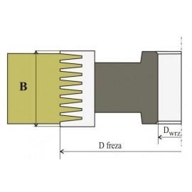 R Frez Do Mikrowczepów 028 B-60 HSS