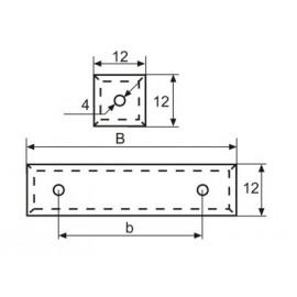 Płytka Czteroostrzowa 12x12x1,5 HW